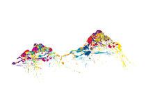 mountainsplash Mythen colorful von Bastian Herbstrith