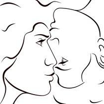 UpsideDown-Portrait:  She + He = Love by Roman Grinko