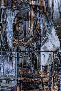 Auf dem Balkon - Abstrakte Architektur  by Chris Berger