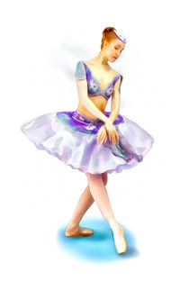 Young Ballerina by Elena Oglezneva
