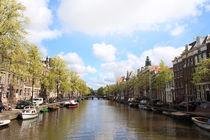 Gracht in Amsterdam von Verena Geyer