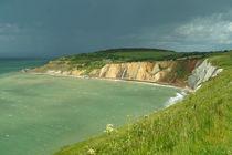 Rain cloud over Alum Bay (Isle of Wight) von Sabine Radtke