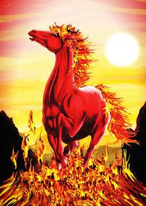 Fire Horse by bluedarkart-lem