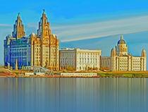 Waterfront Liverpool (Digital Art) by John Wain