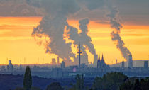 Cologne skyline long distance view by Rolf Eschbach