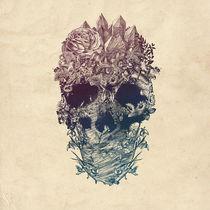 Skull Floral by Ali GULEC