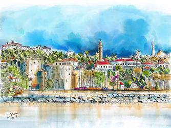 Antalya-blick-zur-altstadt