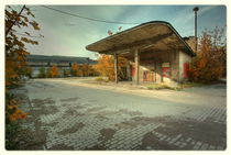 Alte Tankstelle vom Bahnpostamt von Uwe Driesel