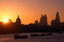 Sonnenaufgang an der Themse von Bruno Schmidiger