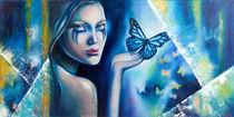 """""""Schmetterlingsblau"""" by burmester-art"""