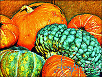 Pumpkins And  More Pumpkins by Mary Lee Parker