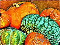 Pumpkins And  More Pumpkins von Mary Lee Parker