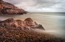 Calm waters at Bracelet Bay by Leighton Collins