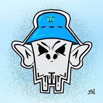 B-Boy Skull Design by Vincent J. Newman