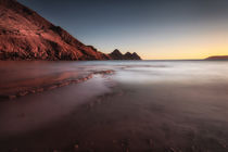 Sunset at Three Cliffs Bay von Leighton Collins
