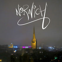 Norwich At Night by Vincent J. Newman