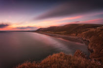 Sunset at Rhossili Bay, South Wales by Leighton Collins