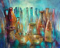 Stillleben mit zwei goldenen Schalen von Annette Schmucker