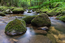 Black Forest Waterfall Three Stones by Tobias  Werner