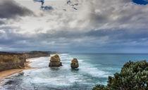 Australia Great Ocean Road Cloudy by Tobias  Werner