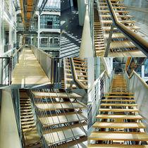Treppen im Raum, Collage von Hartmut Binder