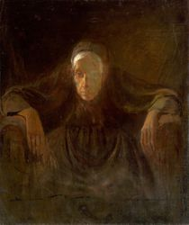 Study of old woman, Laszlo Mednyanszky 1881