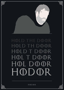 Hodor - Minimalist Quote Poster by mequem design