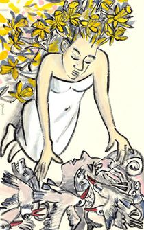 Wolf-Dieter Pfennig: Illustration Narziss und Echo Bild 1 by Wolf-Dieter Pfennig