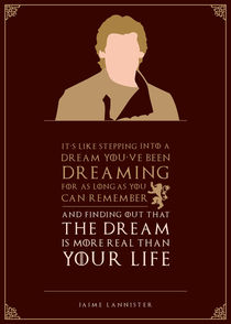 Jaime Lannister - Minimalist Quote Poster by mequem design