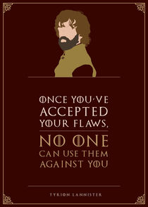 Tyrion Lannister - Minimalist Quote Poster by mequem design