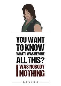 Daryl Dixon - Minimalist Quote Poster von mequem design