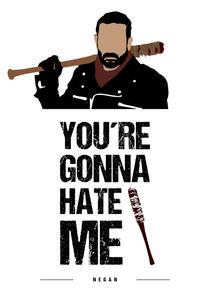 Negan - Minimalist Quote Poster von mequem design