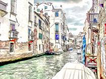 the canals in Venice by Elena Oglezneva