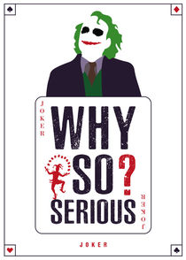 Joker - Minimalist Quote Poster by mequem design
