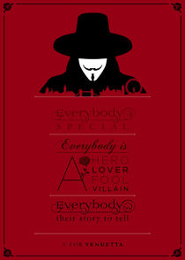 V for Vendetta - Minimalist Quote Poster by mequem design