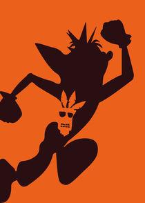 Crash Bandicoot - Minimalist Quote Poster von mequem design