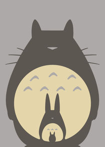 My Neighbor Totoro - Minimalist Poster von mequem design