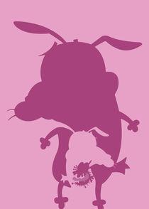 Courage the Cowardly Dog - Minimalist Poster von mequem design