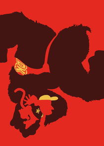 Donkey Kong and Diddy Kong - Minimalist Poster by mequem design