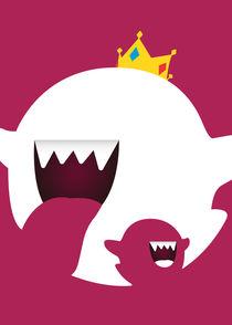 King Boo - Super Mario Bros - Minimalist Poster von mequem design