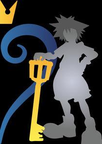 Sora, Kingdom Hearts - Minimalist Poster by mequem design
