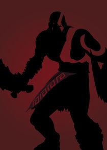 Kratos, God of war - Minimalist Quote Poster von mequem design