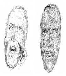 Ein Gesicht aus Zahlen,eins aus Buchstaben by kevin-krollmann