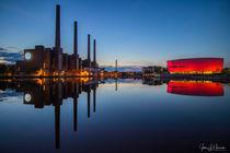 Kraftwerk Wolfsburg mit Autostadt von Jens L. Heinrich