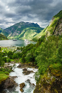 Blick auf den Geirangerfjord in Norwegen von Rico Ködder