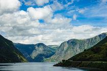 Blick auf den Aurlandsfjord in Norwegen. von Rico Ködder