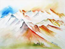 Mont Blanc Massif von Theodor Fischer