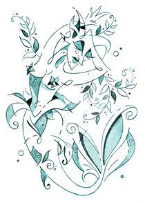 Sirena - Mermaid Fantasy Book Illustration by nacasona