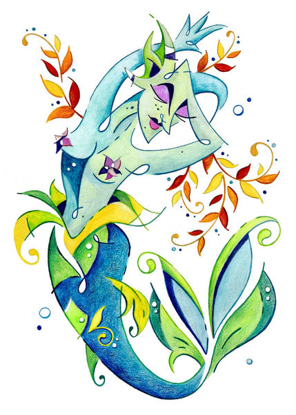Meerjungfrau-art-design-fantasy-illustration