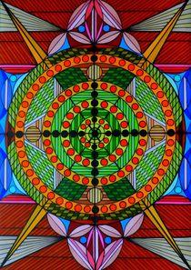 Mandala Spiel des Lebens von Wolfgang Johann Suhadolnik